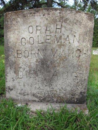 COLEMAN, ORA H - Claiborne County, Louisiana | ORA H COLEMAN - Louisiana Gravestone Photos