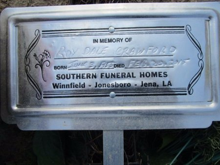 CRAWFORD, ROY DALE - Claiborne County, Louisiana   ROY DALE CRAWFORD - Louisiana Gravestone Photos