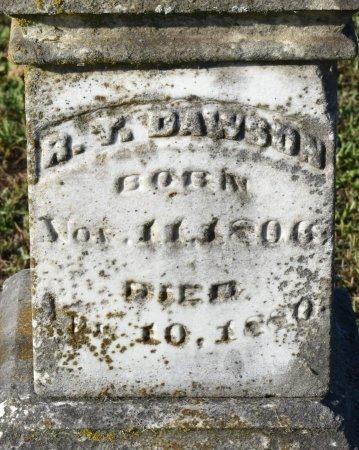 DAWSON, R T (CLOSE UP) - Claiborne County, Louisiana | R T (CLOSE UP) DAWSON - Louisiana Gravestone Photos