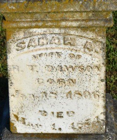 DAWSON, SARAH A (CLOSE UP) - Claiborne County, Louisiana | SARAH A (CLOSE UP) DAWSON - Louisiana Gravestone Photos