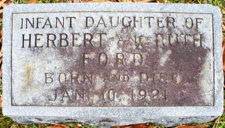 FORD, INFANT DAUGHTER - Claiborne County, Louisiana | INFANT DAUGHTER FORD - Louisiana Gravestone Photos