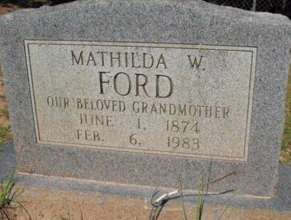 FORD, MATHILDA W - Claiborne County, Louisiana   MATHILDA W FORD - Louisiana Gravestone Photos