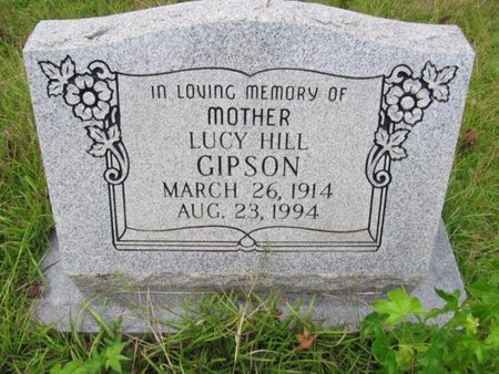 HILL GIPSON, LUCY - Claiborne County, Louisiana | LUCY HILL GIPSON - Louisiana Gravestone Photos