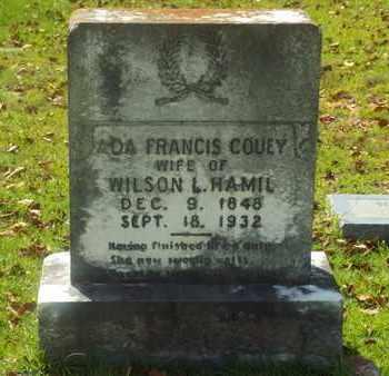 HAMIL, ADA FRANCIS - Claiborne County, Louisiana | ADA FRANCIS HAMIL - Louisiana Gravestone Photos