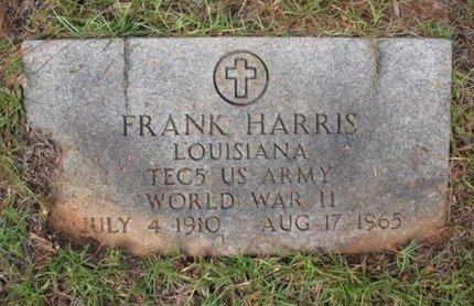 HARRIS, FRANK  (VETERAN WWII) - Claiborne County, Louisiana   FRANK  (VETERAN WWII) HARRIS - Louisiana Gravestone Photos