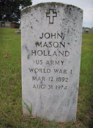 HOLLAND, JOHN MASON (VETERAN WWI) - Claiborne County, Louisiana | JOHN MASON (VETERAN WWI) HOLLAND - Louisiana Gravestone Photos
