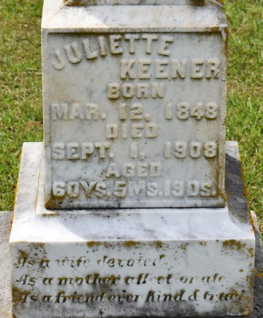 KEENER, JULIETTE (CLOSE UP) - Claiborne County, Louisiana | JULIETTE (CLOSE UP) KEENER - Louisiana Gravestone Photos
