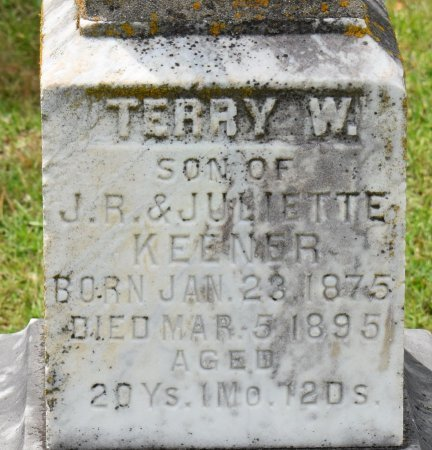 KEENER, TERRY W (CLOSE UP) - Claiborne County, Louisiana | TERRY W (CLOSE UP) KEENER - Louisiana Gravestone Photos