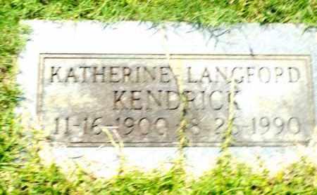 KENDRICK, KATHERINE - Claiborne County, Louisiana   KATHERINE KENDRICK - Louisiana Gravestone Photos