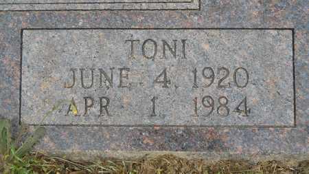 KENDRICK, TONI (CLOSEUP) - Claiborne County, Louisiana   TONI (CLOSEUP) KENDRICK - Louisiana Gravestone Photos