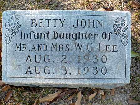 LEE, BETTY JOHN - Claiborne County, Louisiana | BETTY JOHN LEE - Louisiana Gravestone Photos