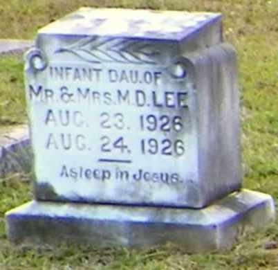 LEE, INFANT DAUGHTER - Claiborne County, Louisiana | INFANT DAUGHTER LEE - Louisiana Gravestone Photos