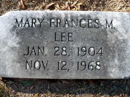 MENEFEE LEE, MARY FRANCES - Claiborne County, Louisiana | MARY FRANCES MENEFEE LEE - Louisiana Gravestone Photos