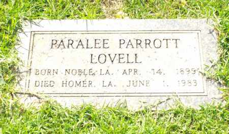 PARROTT LOVELL, PARALEE - Claiborne County, Louisiana | PARALEE PARROTT LOVELL - Louisiana Gravestone Photos