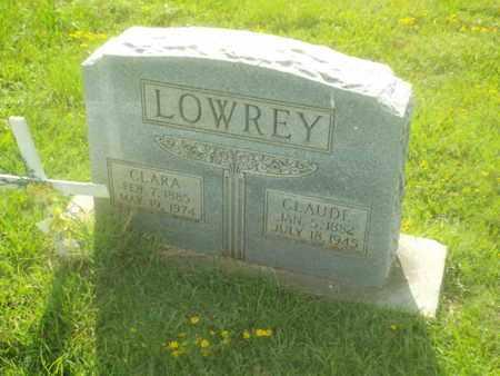 UNDERWOOD LOWREY, CLARA - Claiborne County, Louisiana | CLARA UNDERWOOD LOWREY - Louisiana Gravestone Photos