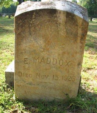 MADDOX, E - Claiborne County, Louisiana | E MADDOX - Louisiana Gravestone Photos