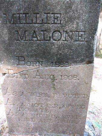 MALONE, MILLIE - Claiborne County, Louisiana   MILLIE MALONE - Louisiana Gravestone Photos