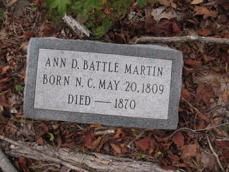 MARTIN, ANN D - Claiborne County, Louisiana | ANN D MARTIN - Louisiana Gravestone Photos