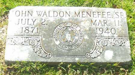 MENEFEE, JOHN WALDON,SR - Claiborne County, Louisiana | JOHN WALDON,SR MENEFEE - Louisiana Gravestone Photos