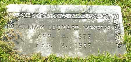 MENEFEE, WILLIAM LEONARD - Claiborne County, Louisiana   WILLIAM LEONARD MENEFEE - Louisiana Gravestone Photos