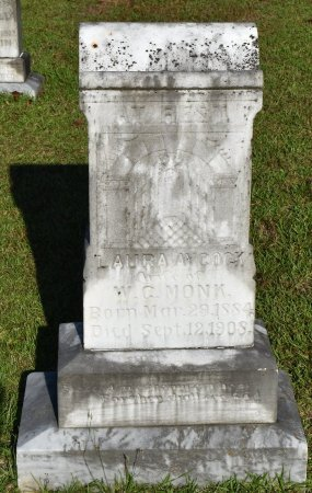 MONK, LAURA - Claiborne County, Louisiana | LAURA MONK - Louisiana Gravestone Photos