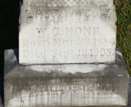 MONK, LAURA (CLOSE UP) - Claiborne County, Louisiana | LAURA (CLOSE UP) MONK - Louisiana Gravestone Photos