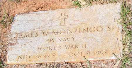 MONZINGO, JAMES W, SR  (VETERAN WWII) - Claiborne County, Louisiana   JAMES W, SR  (VETERAN WWII) MONZINGO - Louisiana Gravestone Photos