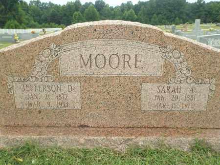 MOORE, JEFFERSON D - Claiborne County, Louisiana   JEFFERSON D MOORE - Louisiana Gravestone Photos
