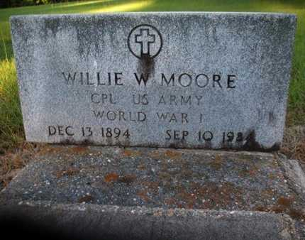 MOORE, WILLIE W (VETERAN WWI) - Claiborne County, Louisiana | WILLIE W (VETERAN WWI) MOORE - Louisiana Gravestone Photos