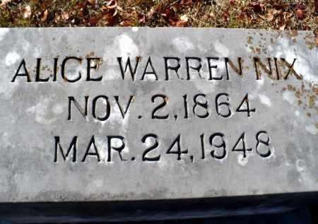 WARREN NIX, ALICE - Claiborne County, Louisiana | ALICE WARREN NIX - Louisiana Gravestone Photos