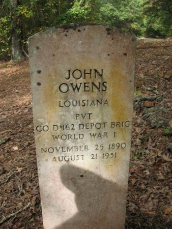 OWENS, JOHN (VETERAN WWI) - Claiborne County, Louisiana | JOHN (VETERAN WWI) OWENS - Louisiana Gravestone Photos