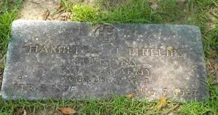 PHILLIPS, HAMILTON J (VETERAN WWI) - Claiborne County, Louisiana   HAMILTON J (VETERAN WWI) PHILLIPS - Louisiana Gravestone Photos