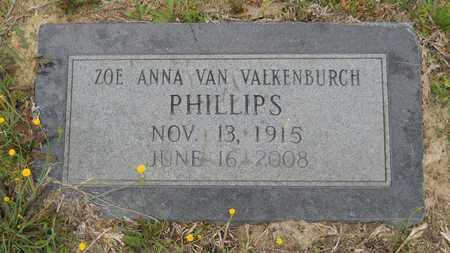 PHILLIPS, ZOE ANNA - Claiborne County, Louisiana | ZOE ANNA PHILLIPS - Louisiana Gravestone Photos