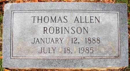 ROBINSON, THOMAS ALLEN - Claiborne County, Louisiana   THOMAS ALLEN ROBINSON - Louisiana Gravestone Photos