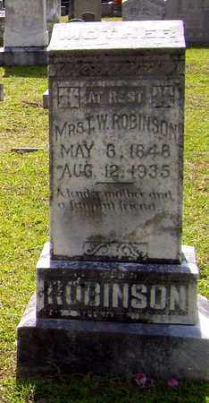 HEFLIN ROBINSON, T W,MRS - Claiborne County, Louisiana | T W,MRS HEFLIN ROBINSON - Louisiana Gravestone Photos