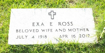 PURGERSON ROSS, EXA E - Claiborne County, Louisiana | EXA E PURGERSON ROSS - Louisiana Gravestone Photos