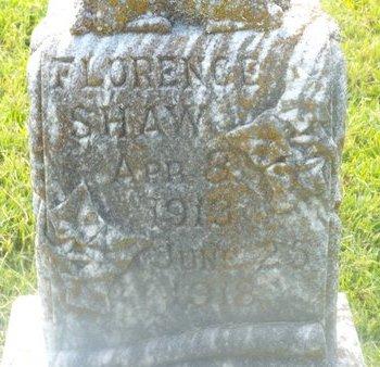 SHAW, FLORENCE - Claiborne County, Louisiana | FLORENCE SHAW - Louisiana Gravestone Photos