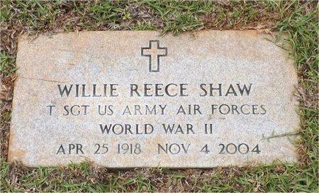 SHAW, WILLIE REECE (VETERAN WWII) - Claiborne County, Louisiana   WILLIE REECE (VETERAN WWII) SHAW - Louisiana Gravestone Photos