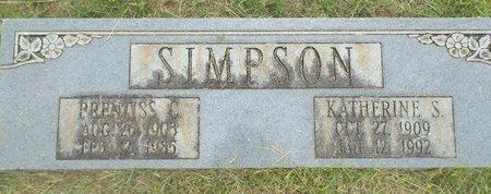 SIMPSON, PRENTISS - Claiborne County, Louisiana | PRENTISS SIMPSON - Louisiana Gravestone Photos