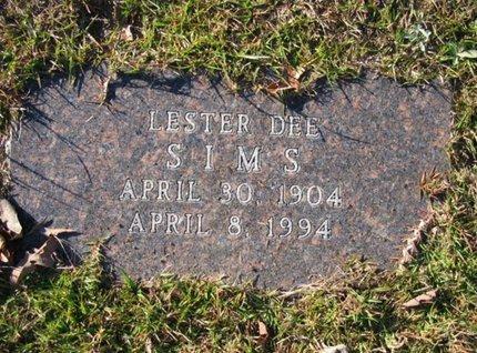 SIMS, LESTER DEE - Claiborne County, Louisiana | LESTER DEE SIMS - Louisiana Gravestone Photos