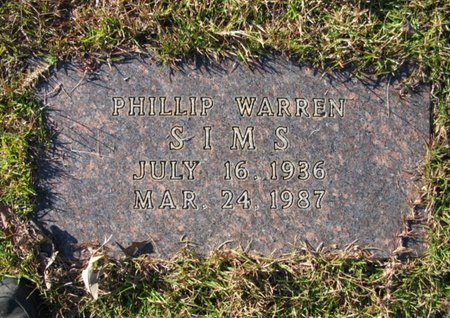 SIMS, PHILLIP WARREN - Claiborne County, Louisiana | PHILLIP WARREN SIMS - Louisiana Gravestone Photos