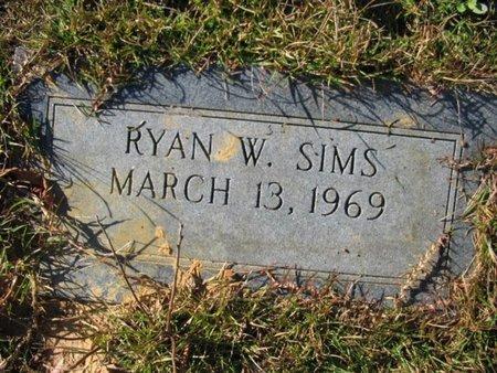 SIMS, RYAN W - Claiborne County, Louisiana   RYAN W SIMS - Louisiana Gravestone Photos