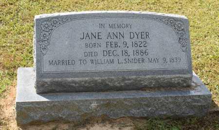 SNIDER, JANE ANN - Claiborne County, Louisiana | JANE ANN SNIDER - Louisiana Gravestone Photos