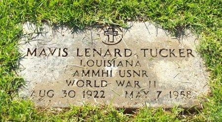 TUCKER, MAVIS LENARD (VETERAN WWII) - Claiborne County, Louisiana   MAVIS LENARD (VETERAN WWII) TUCKER - Louisiana Gravestone Photos