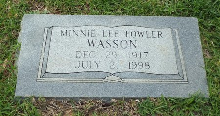 FOWLER WASSON, MINNIE LEE - Claiborne County, Louisiana | MINNIE LEE FOWLER WASSON - Louisiana Gravestone Photos