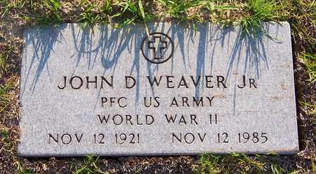 WEAVER, JOHN D, JR  (VETERAN WWII) - Claiborne County, Louisiana   JOHN D, JR  (VETERAN WWII) WEAVER - Louisiana Gravestone Photos