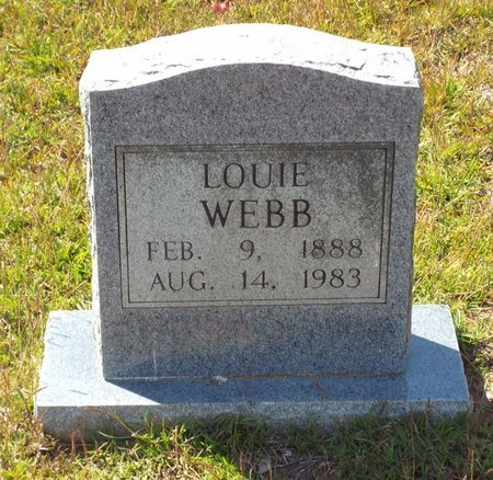 WEBB, LOUIE - Claiborne County, Louisiana   LOUIE WEBB - Louisiana Gravestone Photos