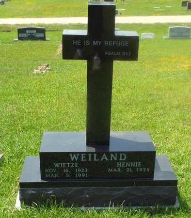 WEILAND, WIETZE - Claiborne County, Louisiana | WIETZE WEILAND - Louisiana Gravestone Photos
