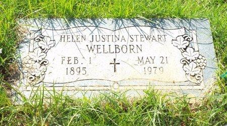 WELLBORN, HELEN JUSTINA - Claiborne County, Louisiana | HELEN JUSTINA WELLBORN - Louisiana Gravestone Photos