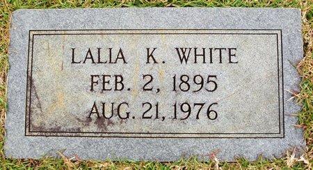 KENDRICK WHITE, LALIA - Claiborne County, Louisiana | LALIA KENDRICK WHITE - Louisiana Gravestone Photos